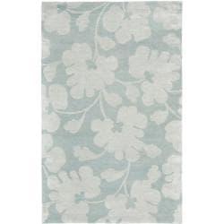 Safavieh Handmade Shadows Light Blue New Zealand Wool Rug - 7'6 x 9'6 - Thumbnail 0