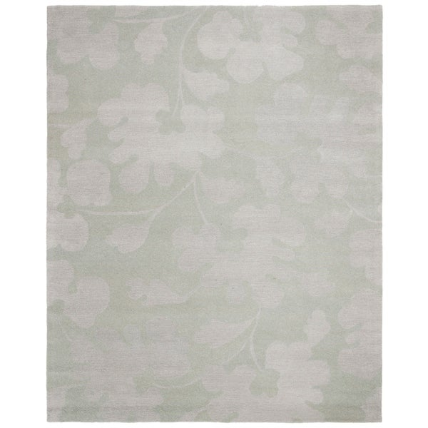 "Safavieh Handmade Shadows Light Blue New Zealand Wool Rug - 7'-6"" x 9'-6"""