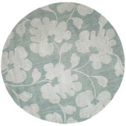 Safavieh Handmade Shadows Light Blue New Zealand Wool Rug (6' Round)