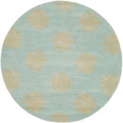 Safavieh Handmade Medallion Turquoise New Zealand Wool Rug (6' x 6' Round)