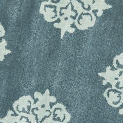 Safavieh Handmade Medallion Blue New Zealand Wool Rug (8' Round)