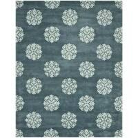 Safavieh Handmade Medallion Blue New Zealand Wool Rug - 9'6 x 13'6