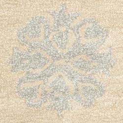 Safavieh Handmade Medallion Beige New Zealand Wool Rug (2' x 3') - Thumbnail 2