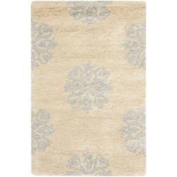 Safavieh Handmade Medallion Beige New Zealand Wool Rug (2' x 3')
