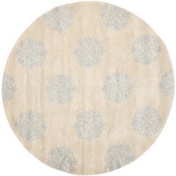 Safavieh Handmade Medallion Beige New Zealand Wool Runner Rug (6' x 6' Round)