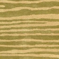 Safavieh Handmade Stripes Green New Zealand Wool Rug (7'6 x 9'6)