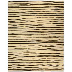 Safavieh Handmade Stripes Ivory New Zealand Wool Rug - 5' x 8' - Thumbnail 0