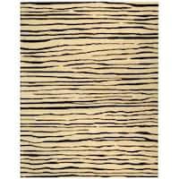 Safavieh Handmade Stripes Ivory New Zealand Wool Rug - 5' x 8'
