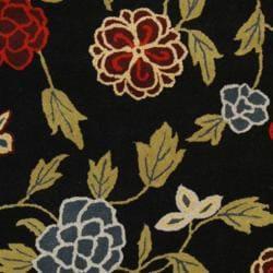 Safavieh Handmade Gardens Black New Zealand Wool Rug (3'6 x 5'6') - Thumbnail 2