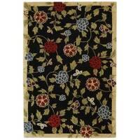 Safavieh Handmade Gardens Black New Zealand Wool Rug - 8'3 x 11'