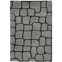 Safavieh Handmade Terra Grey New Zealand Wool Rug (2' x 3')