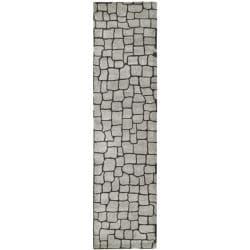 """Safavieh Handmade Terra Grey New Zealand Wool Rug (2'6 x 8') - 2'6"""" x 8' - Thumbnail 0"""