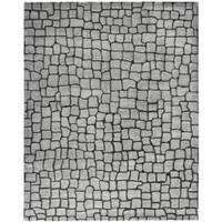 """Safavieh Handmade Terra Grey New Zealand Wool Rug - 8'3"""" x 11'"""