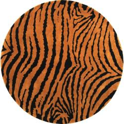 Safavieh Handmade Tiger Brown/Black New Zealand Wool Runner Rug (6' x 6' Round)