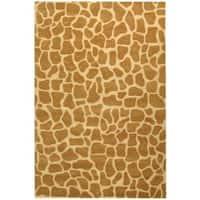 Safavieh Handmade Giraffe Beige New Zealand Wool Rug (7'6 x 9'6)
