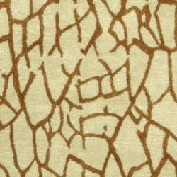 Safavieh Handmade Desert Light Green New Zealand Wool Rug (3'6 x 5'6') - Thumbnail 2