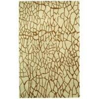 Safavieh Handmade Desert Light Green New Zealand Wool Rug - 8'3 x 11'