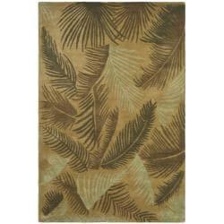 Safavieh Handmade Ferns Gold New Zealand Wool Rug (8'3 x 11') - Thumbnail 0