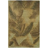 Safavieh Handmade Ferns Gold New Zealand Wool Rug - 8'3 x 11'