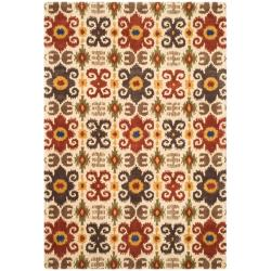 Safavieh Handmade Festive Ivory New Zealand Wool Rug (8'3 x 11')