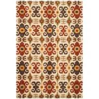 Safavieh Handmade Festive Ivory New Zealand Wool Rug - 8'3 x 11'