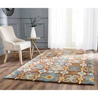 "Safavieh Handmade Festive Brown New Zealand Wool Rug - 3'6"" x 5'6"""