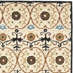 Safavieh Handmade Gramercy Ivory New Zealand Wool Rug (5'x 8') - Thumbnail 1