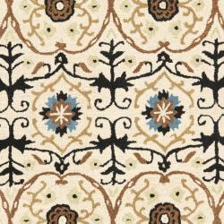 Safavieh Handmade Gramercy Ivory New Zealand Wool Rug (5'x 8') - Thumbnail 2