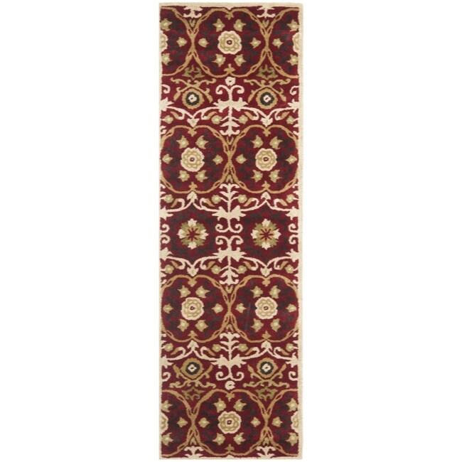 Safavieh Handmade Gramercy Red New Zealand Wool Rug (2'6 x 8')