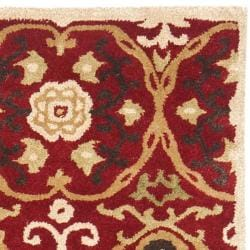 Safavieh Handmade Gramercy Red New Zealand Wool Rug (5'x 8') - Thumbnail 1