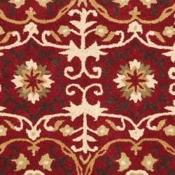 Safavieh Handmade Gramercy Red New Zealand Wool Rug (5'x 8') - Thumbnail 2