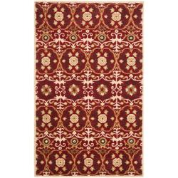 Safavieh Handmade Gramercy Red New Zealand Wool Rug (5'x 8')