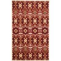 Safavieh Handmade Gramercy Red New Zealand Wool Rug - 5' x 8'