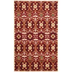Safavieh Handmade Gramercy Red New Zealand Wool Rug (7'6 x 9'6)