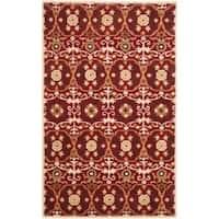 Safavieh Handmade Gramercy Red New Zealand Wool Rug - 7'6 x 9'6