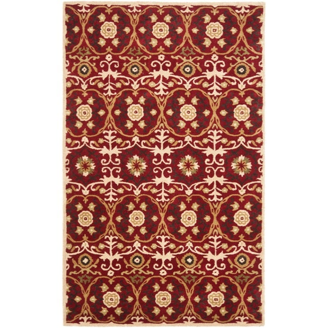 Safavieh Handmade Gramercy Red New Zealand Wool Rug - 8'3 x 11'