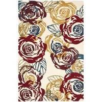 Safavieh Handmade Roses Ivory New Zealand Wool Rug - 7'6 x 9'6