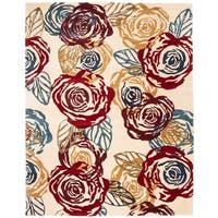 "Safavieh Handmade Roses Ivory New Zealand Wool Rug - 7'6"" x 9'6"""