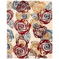 Safavieh Handmade Roses Ivory New Zealand Wool Rug - 8'3 x 11'