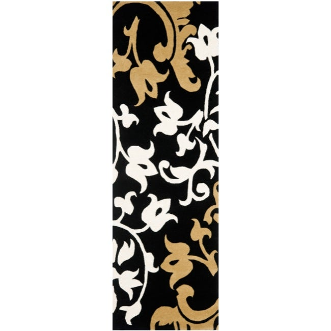 Safavieh Handmade Silhouettes Brown New Zealand Wool Rug (2'6 x 8')