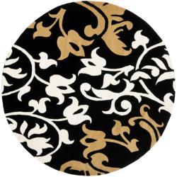 Safavieh Handmade Silhouettes Brown New Zealand Wool Rug - 6' x 6' Round