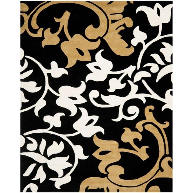 Safavieh Handmade Silhouettes Brown New Zealand Wool Rug (7'6 x 9'6)