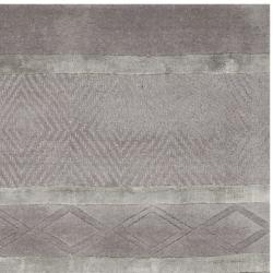 Safavieh Handmade Metro Grey New Zealand Wool Rug (2'6 x 12') - Thumbnail 1