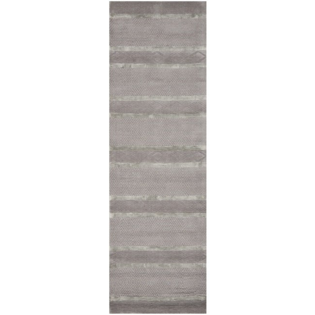 Safavieh Handmade Metro Grey New Zealand Wool Rug (2'6 x 8')