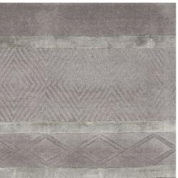 Safavieh Handmade Metro Grey New Zealand Wool Rug (2'6 x 8') - Thumbnail 1