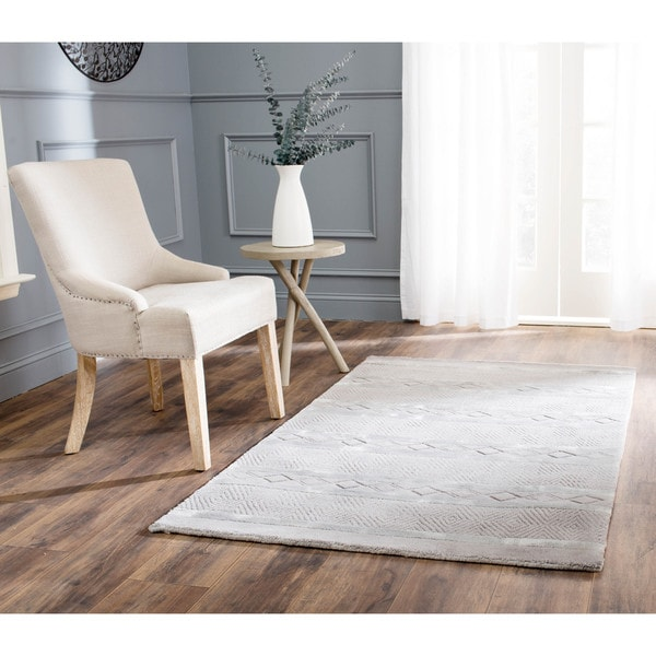 Safavieh Handmade Metro Grey New Zealand Wool Rug - 8'3 x 11'