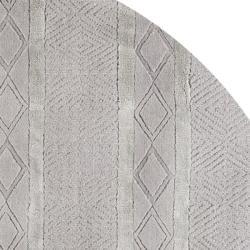 Safavieh Handmade Metro Grey New Zealand Wool Rug (6' Round) - Thumbnail 1
