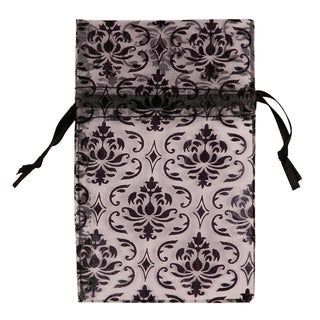 Caddy Bay Collection 48 peice Organza Damask Drawstring Pouches Gift Bags