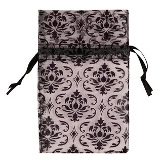 Caddy Bay Collection 48piece Organza Damask Drawstring Pouches Gift Bags