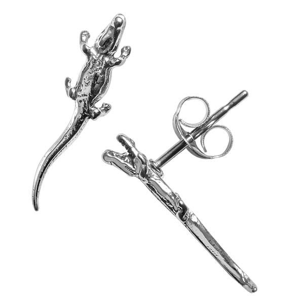 Journee Collection Sterling Silver Alligator Stud Earrings
